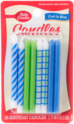 Cool In Blue - Betty Crocker Birthday Candles 16/Pkg