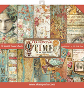 """Time Is An Illusion, 10 Designs/1 Each - Stamperia Double-Sided Paper Pad 12""""X12"""" 10/Pkg"""
