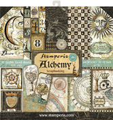 """Alchemy, 10 Designs/1 Each - Stamperia Double-Sided Paper Pad 12""""X12"""" 10/Pkg"""