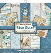 "Blue Stars, 10 Designs/1 Each - Stamperia Double-Sided Paper Pad 12""X12"" 10/Pkg"
