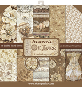 """Old Lace, 10 Designs/1 Each - Stamperia Double-Sided Paper Pad 12""""X12"""" 10/Pkg"""