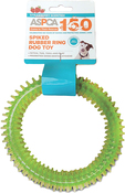 Green - ASPCA Spiked Rubber Ring Dog Toy