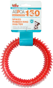 Pink - ASPCA Spiked Rubber Ring Dog Toy
