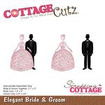 "Elegant Bride & Groom .9"" To 3"" - CottageCutz Dies"