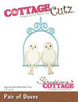 "Pair Of Doves 1.6""X2.5"" - CottageCutz Die"