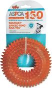 Orange - ASPCA Squeaky Spiked Ring Dog Toy