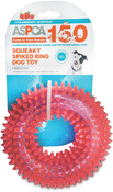 Pink - ASPCA Squeaky Spiked Ring Dog Toy