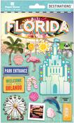 "Travel Florida Magic - Paper House 2-D Stickers 7.5""x4.5"""