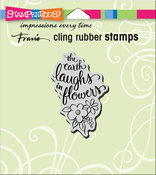 """Earth Laughs - Stampendous Cling Stamp 4.75""""X4.5"""""""