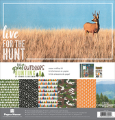 """The Great Outdoors Hunting - Paper House Paper Crafting Kit 12""""X12"""""""
