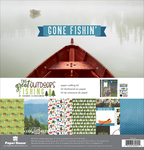 """The Great Outdoors Fishing - Paper House Paper Crafting Kit 12""""X12"""""""