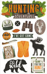 Hunting Adventures - Paper House Dimensional Multi-Level Sticker