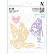 Patterned Birds - Xcut Decorative Dies 3/Pkg
