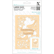 A Little Birdie - Xcut Decorative Dies Large 3/Pkg