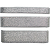 Silver; 10mm, 20mm & 25mm - Craft Consortium Always & Forever Metallic Ribbon 3m 3/Pkg Perfect for adding that finishing touch to any wedding stationary, invite or decoration! This package contains three meters of 10mm wide ribbon, three meters of 20mm wide ribbon and three meters of 25mm wide ribbon. Imported.
