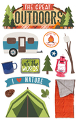"Great Outdoors - Paper House 3D Stickers 4.5""X7"""