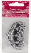 "Crown - Stamperia Clear Stamp 2""X2.5"""