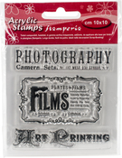 "Photography - Stamperia Clear Stamp 4""X4"""