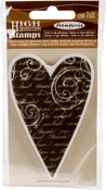 "Heart - Stamperia Cling Stamp 2.5""X4"""