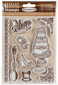 "Wedding - Stamperia Cling Stamp 5.5""X7"""