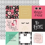 4 x 4 Journaling Card Paper - Fashionista - Echo Park