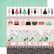 Border Strips Paper - Fashionista - Echo Park