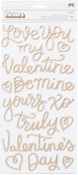 Gold Foil Phrase Thickers - Forever My Always - Pebbles