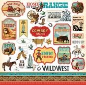 Cowboy Country Sticker Sheet - Carta Bella