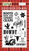 Howdy Cowboy 4 x 6 Stamp - Carta Bella