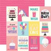 Journaling Card 3 x 4 Paper - Happy Birthday Girl - Echo Park