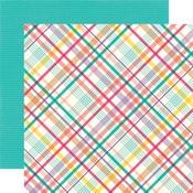 Party Plaid Paper - Happy Birthday Girl - Echo Park