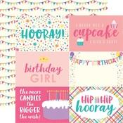 Journaling Card 4 x 6 Paper - Happy Birthday Girl - Echo Park