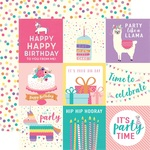 Journaling Card 4 x 4 Paper - Happy Birthday Girl - Echo Park