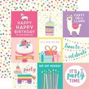 Journaling Card 4 x 4 Paper - Happy Birthday Girl - Echo Park