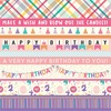 Border Strips Paper - Happy Birthday Girl - Echo Park