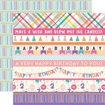 Border Strips Paper - Happy Birthday Girl - Echo Park