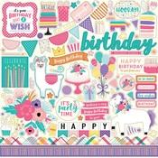Happy Birthday Girl Element stickers - Echo Park