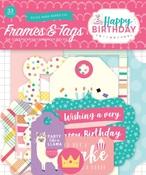 Happy Birthday Girl Frames & Tags Ephemera - Echo Park
