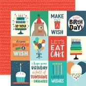 Jouraling Card 3 x 4 Paper - Happy Birthday Boy - Echo Park