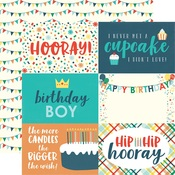 Journaling Card 4 x 6 Paper - Happy Birthday Boy - Echo Park