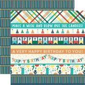 Border Strips Paper - Happy Birthday Boy - Echo Park