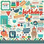 Happy Birthday Boy Element Sticker Sheet - Echo Park