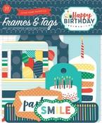 Happy Birthday Boy Frames & Tags Ephemera - Echo Park