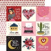 Journaling Card 4 x 4 Paper - Hello Sweetheart - Carta Bella