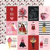 Journaling 3 x 4 Paper - Hello Sweetheart - Carta Bella