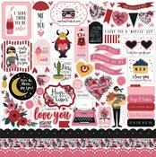 Hello Sweetheart Sticker Sheet - Carta Bella