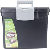 """Black - Portable File Box 10.875""""X13.25""""X11"""""""