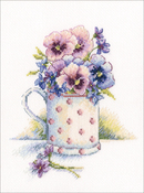 "5.25""X6.25"" 16 Count - First Violets Counted Cross Stitch Kit"