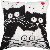 White Cat - Collection D'art Stamped Needlepoint Cushion Kit 40x40cm