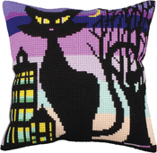 Black Grace II - Collection D'art Stamped Needlepoint Cushion Kit 40x40cm